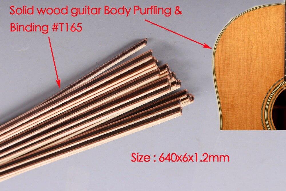Guitar Strip Wood Purfling Binding Guitar Body Parts Inlay  640x6x1.2 mm 165#  20 pcs original roland fh 740 ra 640 vs 640 re 640 capping unit 6701409200 printer parts