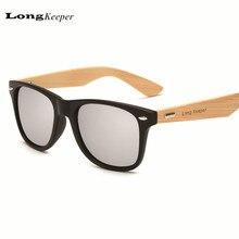 LongKeeper Brand Design Bamboo Foot Sunglasses Men Wooden Sunglasses Women Original Wood Sun Glasses 2016 Hot LKP1501