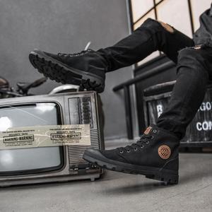Image 3 - شاومي جوديير حذاء قماش ارتداء مقاومة حذاء برقبة للعمل خطوط غرامة رجل امرأة عالية أعلى حذاء قماش التحرير الأحذية في الهواء الطلق