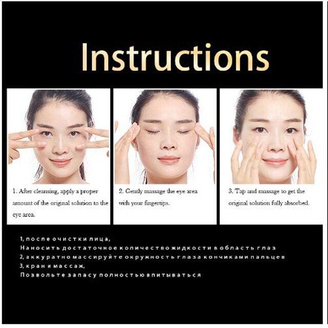 ISILANDON 24 K or sérum pour les yeux soins du visage sans âge Anti-âge yeux Fine ligne sacs pour les yeux cernes hydratant blanchissant soins de la peau