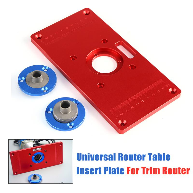 High quality 235x120x10mm universal router table insert plate for 1x router table insert plate 2 x cover plate 1 x shaft sleeve greentooth Gallery