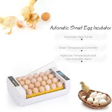 24-Eggs Intelligent Automatic Egg Incubator Temperature Control Hatcher for Hatching Chicken Duck Bird Quail Poultry цена
