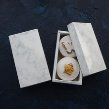 high quality 14*7*5cm 10pcs marble design chocolate Paper Box wedding party cookie candy Macarons Storage Boxes