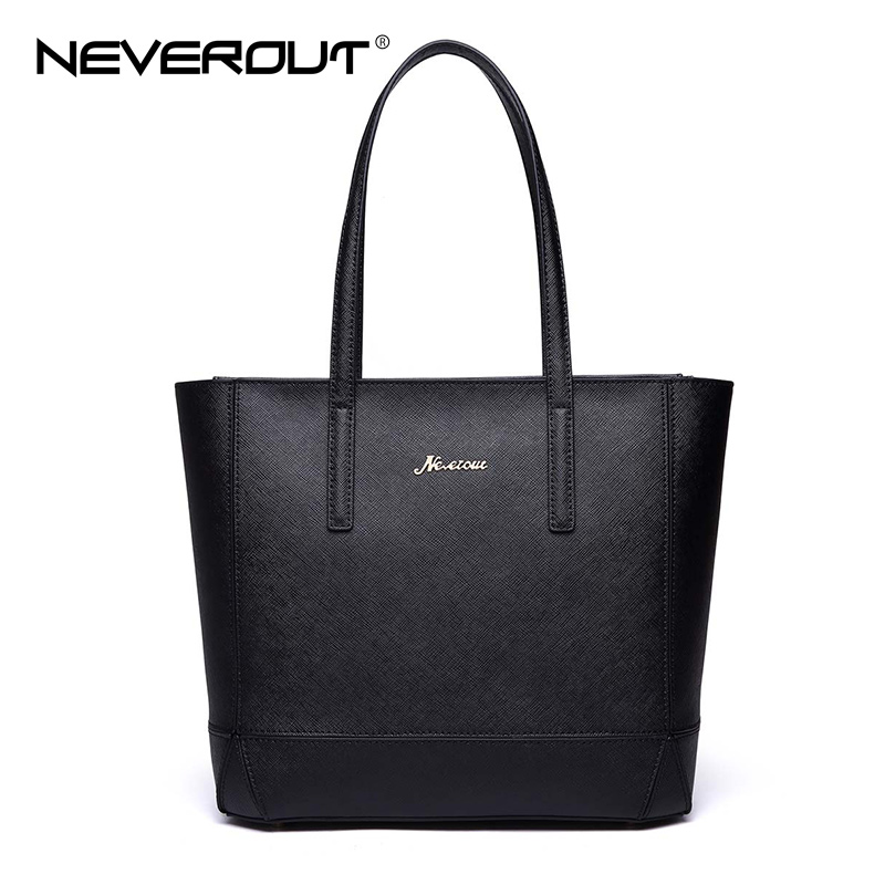 NeverOut Fashion Brand Women Bag Split Leather Casual Tote Top-Handle Handbags Totes High Quality Handbag Shoulder Bags Sac Tote luxury genuine leather bag fashion brand designer women handbag cowhide leather shoulder composite bag casual totes