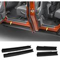 4pcs/set Black ABS Door Sill Entry Guards Strips Non-slip Scuff Plates Protectors Cover Trim Kit For Jeep Wrangler JK 4DR 4 Door