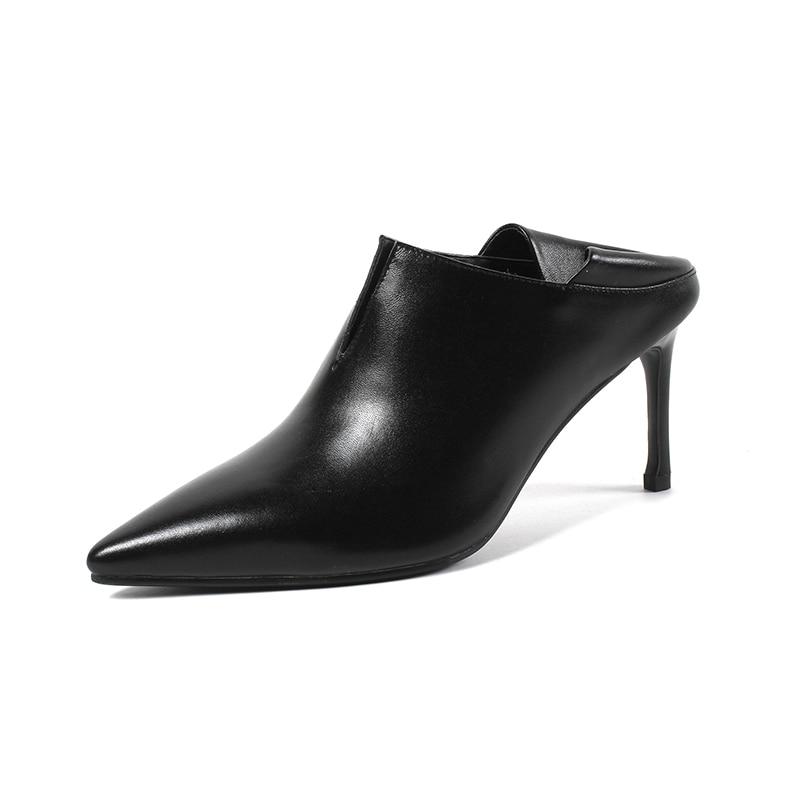 Partie Femmes Main De En jiaotang Noir Profonde Grande À 33 Mariage Chaussures Pompes Cuir Lady Xiuningyan 2018 Peu Taille Véritable 43 Occasionnel La Mode ZOwdaqZxIn