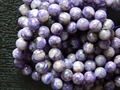 Free shipping natural low price russian charoite 8mm smooth round charm gem stone  for jewelry making