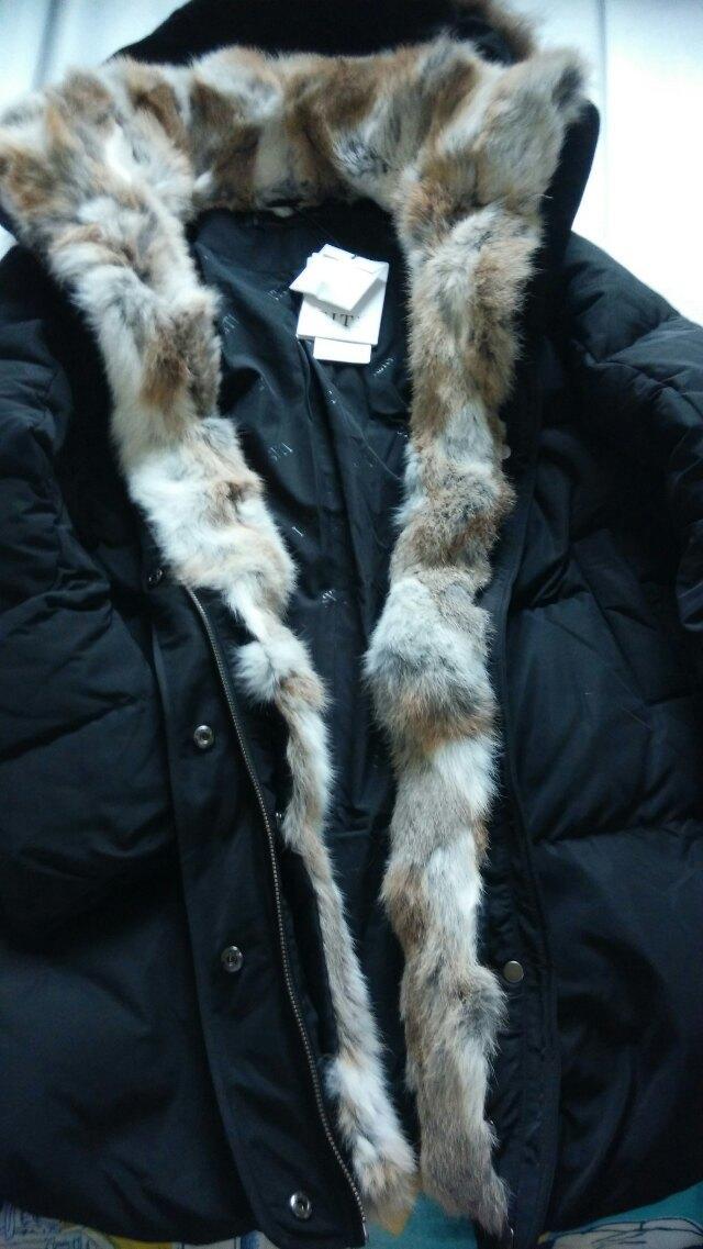 Siti 2015 invierno grueso marca Abrigos de plumas chaqueta moda mujer  sólido ropa Pieles de animales con capucha cremallera conejo blanco lujo  Abrigos de ... 3dadab91106c