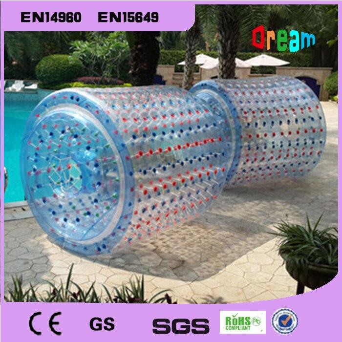 Livraison Gratuite 100% PVC Gonflable Marche de L'eau de L'eau Paly Équipement Rouleau de L'eau Boule Aqua Bal Zorb Balle