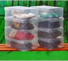 Homens transparente caixa de sapatos de armazenamento organizador de sapatos