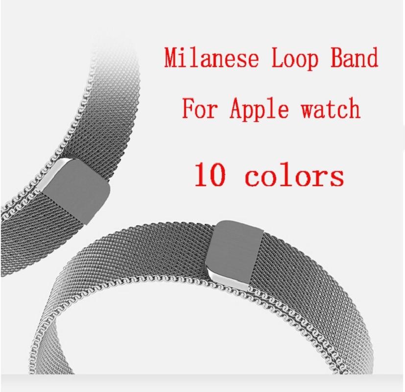 Joyozy Milanese Loop para Apple Watch band 42mm/38mm iwatch 3 2 1 pulsera acero inoxidable reloj de pulsera correa de la banda