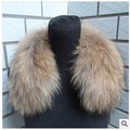 Free shipping High-grade raccoon fur collars down cotton-padded jacket collars raccoon fur cuffs fur collars