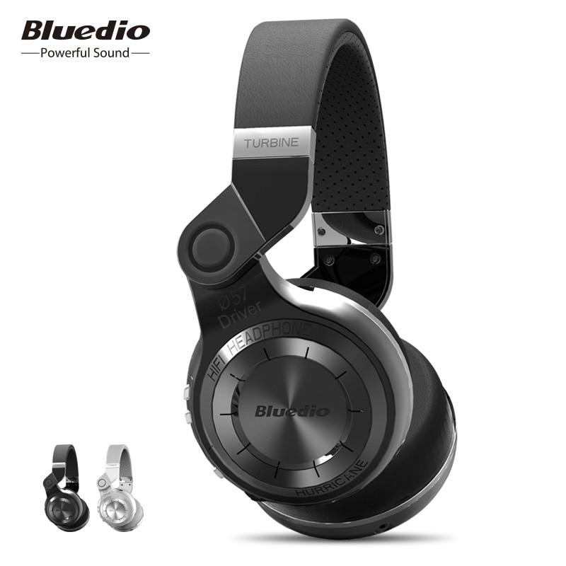 Bluedio T2 Bluetooth Stereo Headphone Wireless Folding Headphones Built-in Mic BT4.1 Powerful Bass Headphones