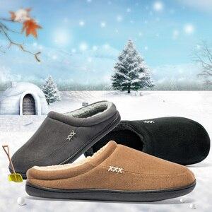 Image 4 - Marka domu kapcie z bawełny mężczyźni zima łazienka zamszowe buty męskie ciepłe Australia styl mężczyzna dom kryty człowiek stałe dorosłych Pantufa