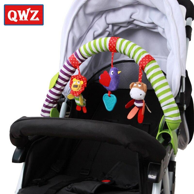 Qwz Nieuwe Baby Speelgoed Wieg Wandelwagen Speelgoed Leuke Pasgeboren Opknoping Baby Rammelaar Ring Bell Zachte Bed Kinderwagen Muziek Speelgoed Voor Baby Geschenken Van Het Grootste Gemak