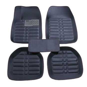 Universal Car Floor Mats For Front and Rear Row Car Styling Waterproof Floor Mats 2018 New leather Black mats