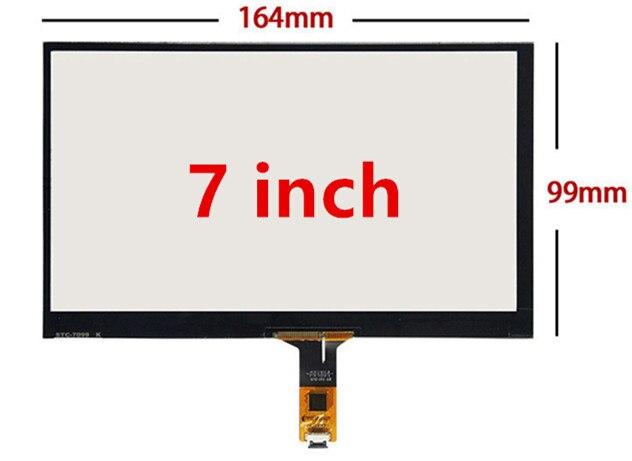 7 cali 165mm * 100mm wysoka kompatybilność Raspberry Pi tablet PC nawigacja pojemnościowy dotykowy Digitizer dotykowy szybka panelu ekranu