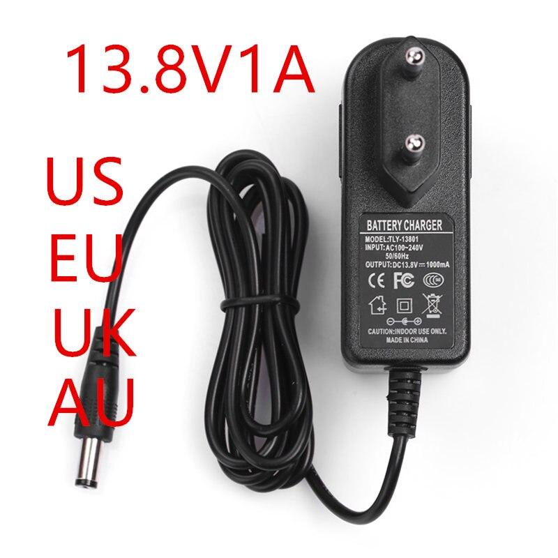 NEW 1PCS EU/US plug100-240VAC 13.8 V 1 A Power adapter 13.8V1000mA adapter DC head is 5.5 * 2.1mm