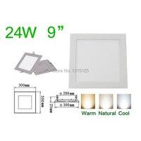 40 шт./лот высокое качество SMD2835 24 Вт утопила свет, квадратный Светодиодные осветительные панели 300 мм, AC85-265V светодиодные лампы + бесплатная д...