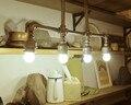 4 огни Ретро Стиле Лофт Водопровод Промышленного Подвесной Светильник, для столовой кофе зал бар, E27 Лампы включены, AC 90 В ~ 260 В