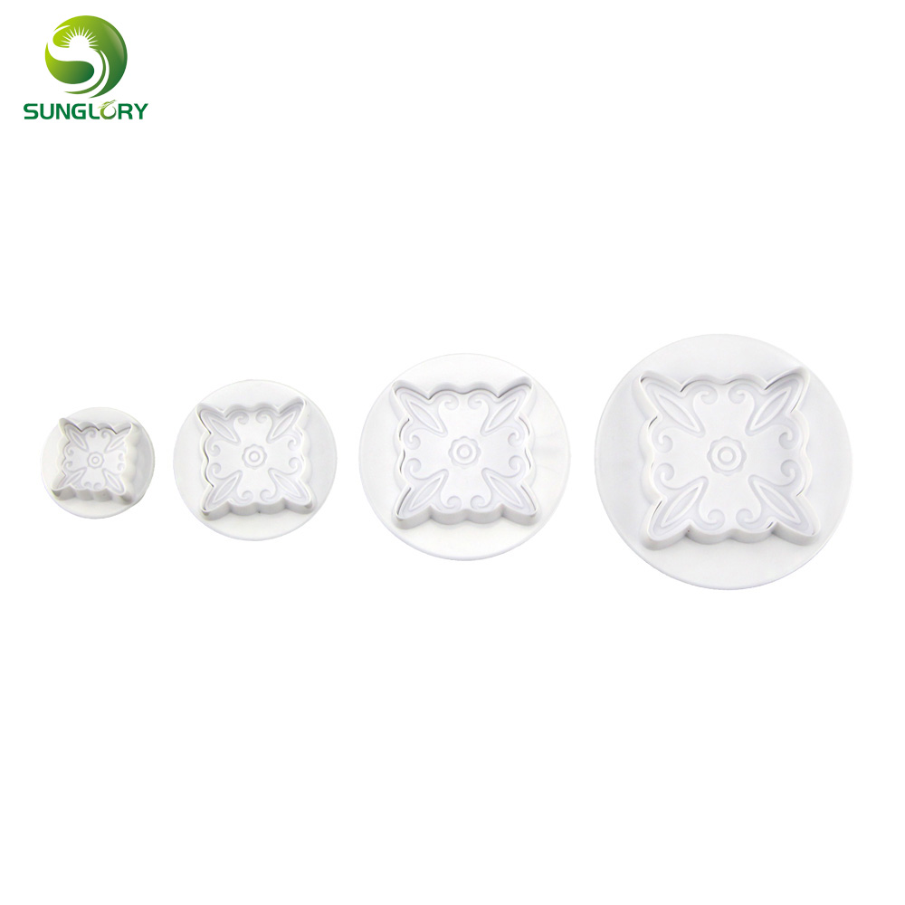 4PCS / SET Пластикалық гүлдер Пластик - Тағамдар, тамақтану және бар - фото 2
