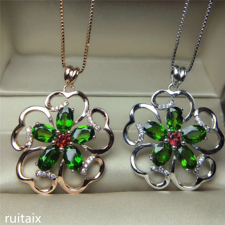 KJJEAXCMY boutique jewels 925 Pure silver natural diophanous diamond pendant necklace inlaid with meihua ornaments цена