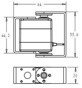 Image 5 - 1xoriginal fábrica robô servo 15kg rds3115 metal engrenagem digital servo arduino servo com longo e curto em linha reta u