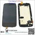Оригинальный черный Полный ЖК-Дисплей и Сенсорный Экран + Сборка рамка Для HTC desire 500 5088 5060 бесплатная доставка, Тест ок + Бесплатная отслеживания Нет.