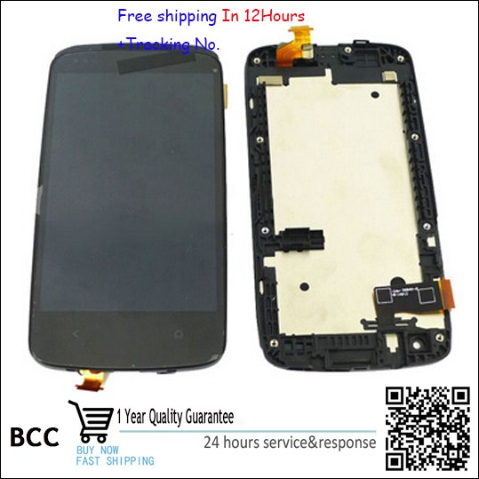 Original black Full LCD Display&Touch Screen+frame Assembly For HTC desire 500 5088 5060 free shipping,Test ok+Free Tracking No. test ok for htc one max lcd display touch screen digitizer panel with frame assembly free shipping track code