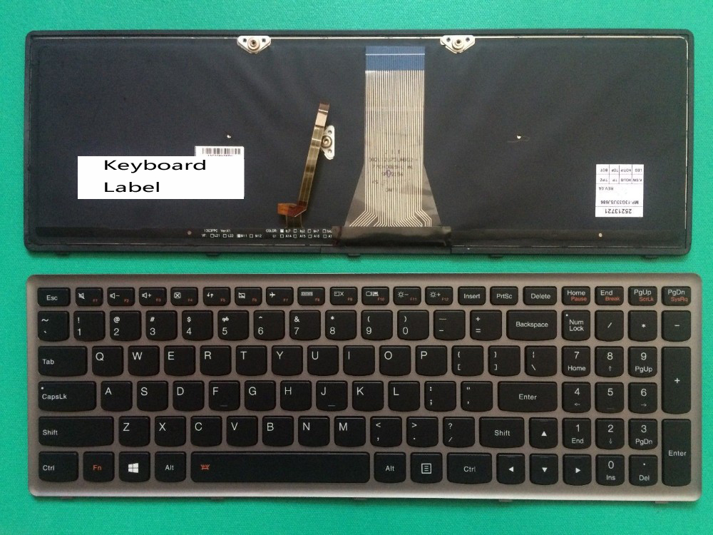 New Laptop keyboard for Lenovo  Z51 Z51-70 Z51-70-IFI Z51-70-ISE  Backlit us layout new english keyboard for lenovo y50 y50 70 y50 70a y50 70am ifi y50 70as ise y70 y70 70t y70p 70t us laptop keyboard backlit