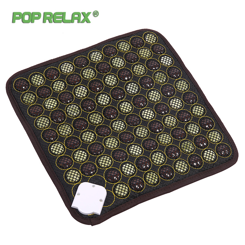 Pop Relax Korea Health Seat Mattress Jade Tourmaline Germanium Electric Heating Pad Knee Pain Relief Thermal Stone Mat Mattress 2017 best selling korea natural jade heated mattress pad tourmaline germanium electric heating physical therapy mat 1 2x1 9m page 5