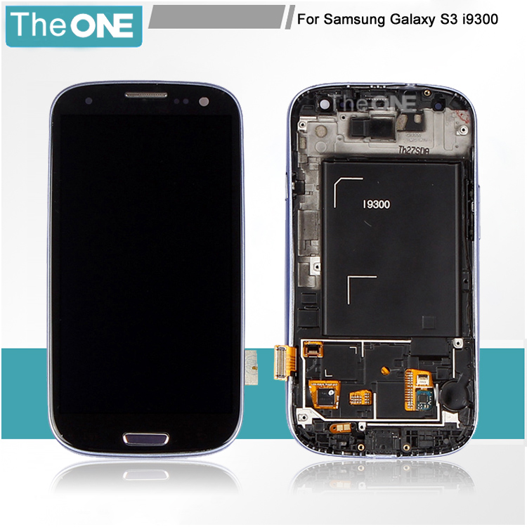 Black/Blue/White LCD Display for Samsung Galaxy S3 i9300 Touch Screen with Digitizer Assembly + Bezel Frame 100% brand new lcd digitizer touch screen display assembly for samsung galaxy note 4 n910 n910a n910v n910p n910t black or white