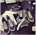 spring Autumn new high help ms classic lace-up low canvas shoes leisure flat single shoe tide with students