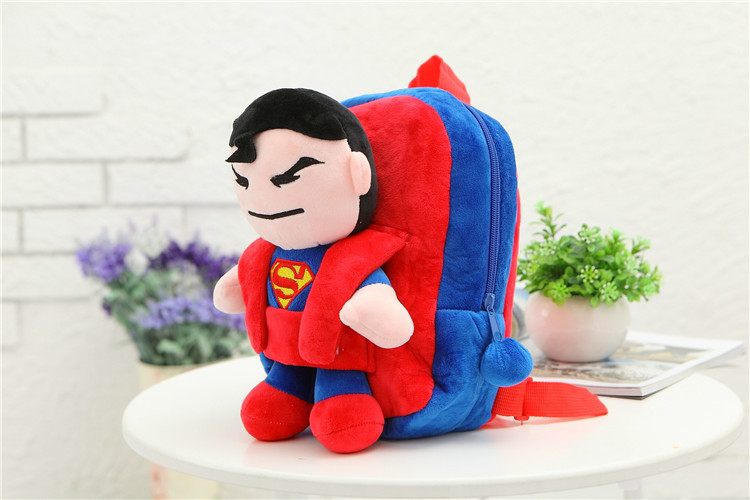 3D-The-Avengers-Plush-Backpacks-Toys-for-kids-2016-New-Ironman-Superman-Spiderman-Batman-doll-plush-schoolbag-mochila-3