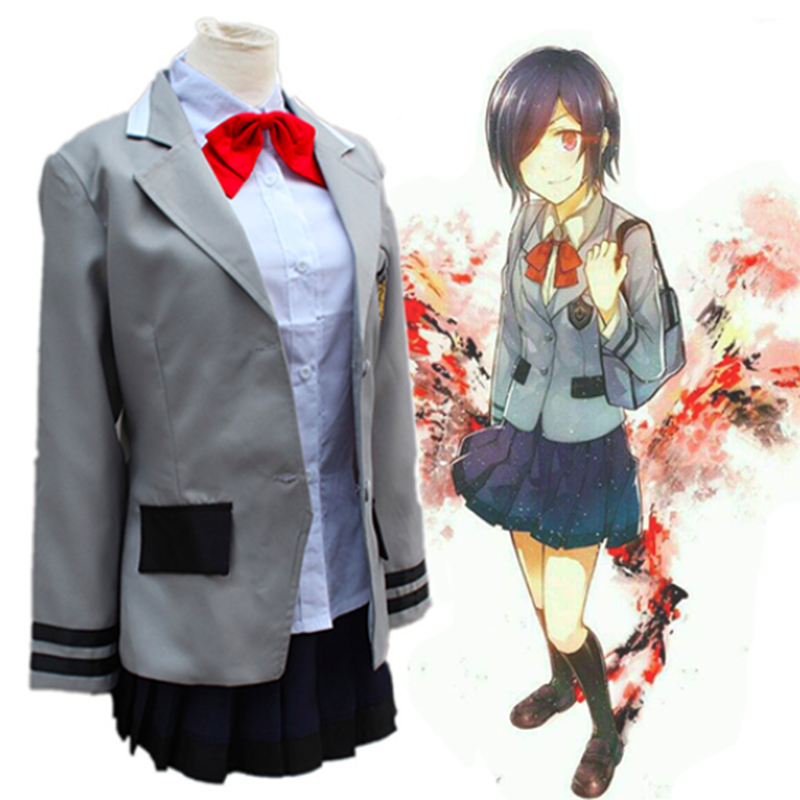 Anime Tokyo Ghoul Cosplay Costume Kirishima Touka Uniform Outfit Anime Cosplay Costumes Halloween Carnival Party Cosplay Costume