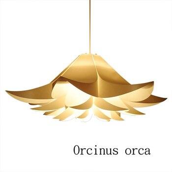 Современная люстра с одной головой в скандинавском стиле для ресторана, спальни, креативная люстра с белым цветком, бесплатная доставка