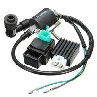 Black Ignition Coil CDI Unit Rectifier Regulator Fits For 110cc 125cc 140cc Pit Dirt Bike