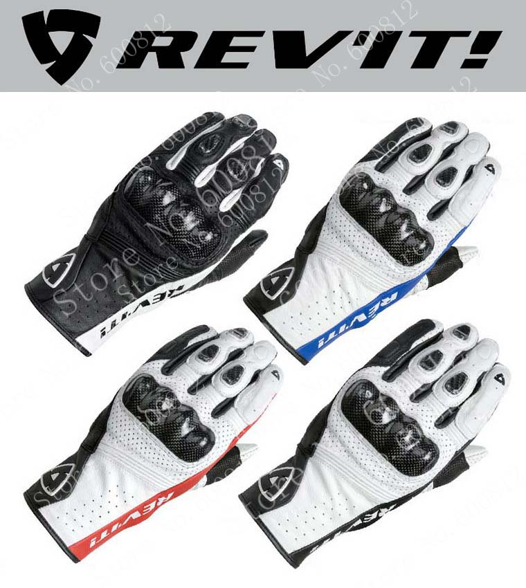 REV'IT! Airvolution motorcycle riding gloves carbon fiber leather Revit motorbike gloves Black red blue white color size M L XL scoyco a012 xl sporty full finger motorcycle gloves black red pair size xl