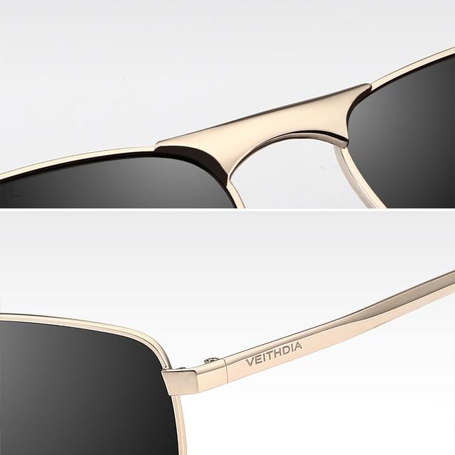 VEITHDIA-Gafas de sol cuadradas para hombres/mujeres, lentes polarizadas vintage de marca, UV400, accesorios, V2462 5