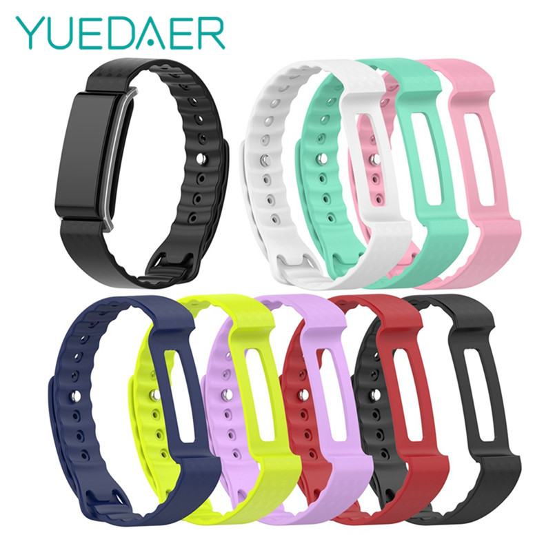 YUEDAER For Honor Band A2 Wrist Strap Silicone For Huawei Honor Band A2 Bracelet Colorful Woven Straps For Band A2 Replacement