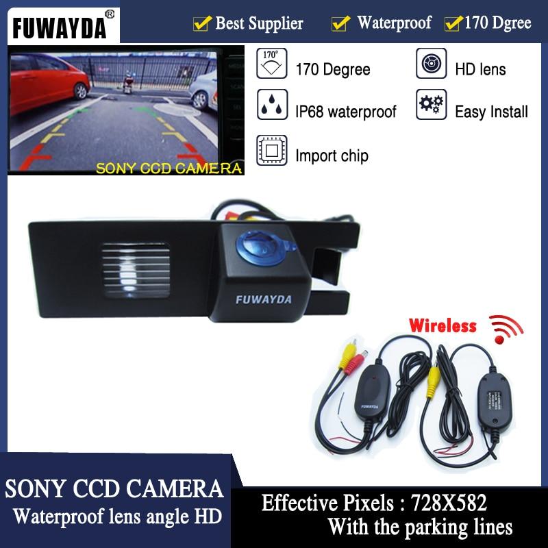 FUWAYDA Free Shipping!Wireless SONY CCD Car Rear View Parking CAMERA For Opel Corsa Astra Vectra Meriva Zafira Fiat Grande Punto