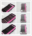 30 Cases/Lot 8/10/12mm  Human Hair Beauty False Eyelashes Extension Kits Super Soft Natural Long C Curling 0.12mm Thick