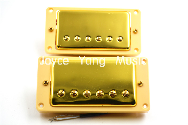 1 Set of 2pcs Gold Double Coil Humbucker Pickups Neck&Bridge For LP Electric Guitar Pickups