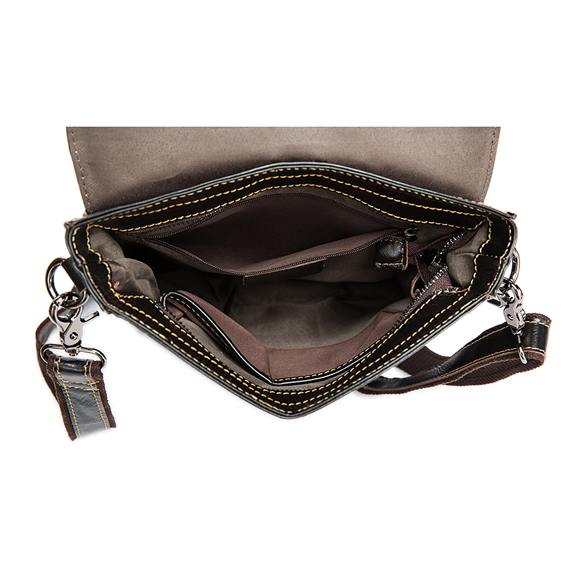 Image 5 - WESTAL Messenger Bag Men's Shoulder bags Genuine Leather Small flap male man Crossbody bag for Messenger men Leather bags 8821-in Crossbody Bags from Luggage & Bags