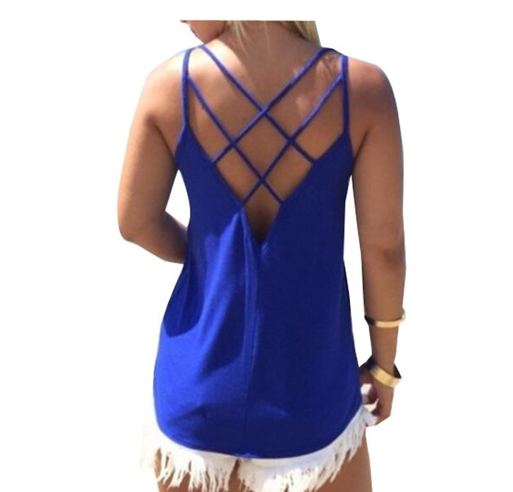 Women t-shirt 2017 New Arrivals Summer shirt sexy Backless sling women tee