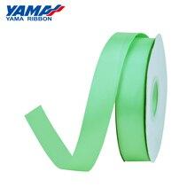 YAMA Однолицевая атласная лента 6 9 13 16 19 22 мм Ленты 100 ярдов Светло-зеленый для украшения