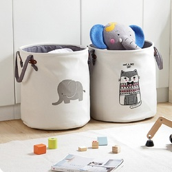 Cartoon Fabric Laundry Basket Bag Large Folding Dirty Clothes Sundries Toy Storage Baskets Box Home Decoration