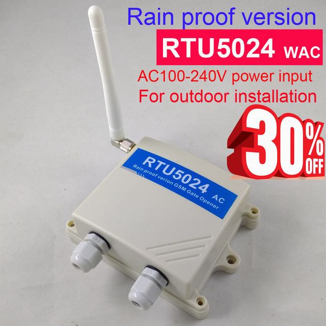 Fast shipping Rain proof version RTU5024 GSM Gate Door Opener GSM Relay Remote Switch Access Control Free Call Home Security
