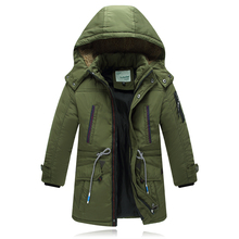 30 Degree Winter Children Down Jacket Occident Long Thick Warm Boy Jacket Down Solid 8