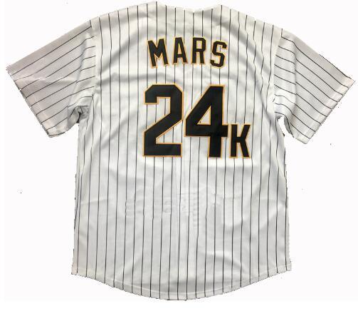 Women Baseball Jerseys Customized Bruno Mars 24K Hooligans BET Awards Jersey  Stitched Baseball Jersey S 4XL Free Shipping -in Baseball Jerseys from  Sports ... 9d80c07a4a